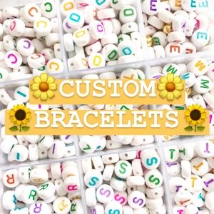 Custom Made Spell Out Pony Bead Candy Bracelets